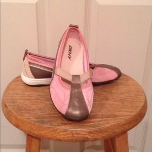 DKNY CHELSEA Pink, Taupe and Tan Shoes.